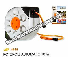 Claber Rotoroll Automatic hose reel 10m. With 2m ext. hose, connectors, spray nozzle, wall mounting fittings