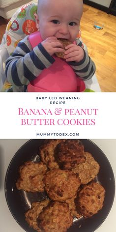 Mummy to Dex - Banana and Peanut Butter Oat Cookies - Baby Led Weaning Recipes