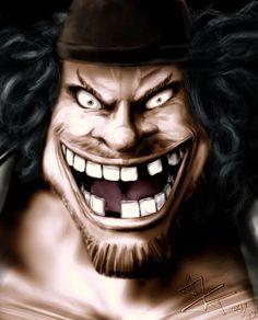 One Piece - Marshall D. Marshall D Teach, Evil Smile, One Piece Drawing, One Piece Images, One Piece Fanart, 0ne Piece, Nico Robin, Time Capsule, Halloween Face Makeup