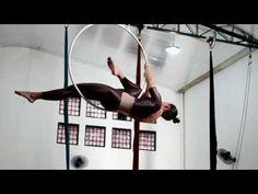 Aerial Hoop / Lyra Training - Video 2 (Intermediate) - transitions
