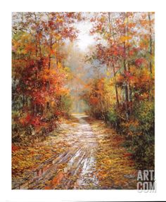 Autumn Trail Print by Tan Chun at Art.com