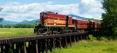 Scenic Railroad ~ ValleyTrain ~ MoatBrook; North Conway, New Hempshire