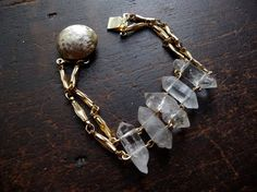 quartz point bracelet $45 from BroadStreet on Etsy