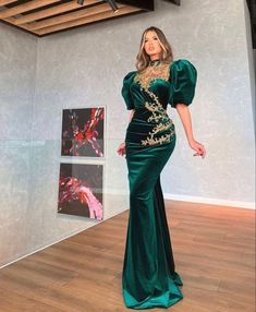 Green long prom dress, new evening dress vp7899 by VestidosProm, $140.21 USD