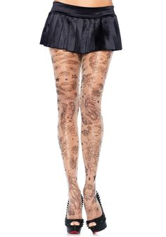 Tattoo Tights, Leg Tattoos, Bodies, Kings Crown, Leg Avenue, Costume, Leggings, Queen Of Hearts, Sexy