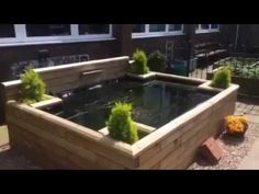 Easy build ,raised wooden pond. - YouTube