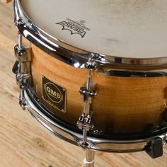 """GMS 7x13"""" Snare Drum Maple/Eucalyptus Natural to Black USED"""
