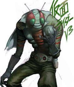 kamen rider v3 by cuson.deviantart.com on @deviantART