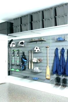 How to declutter and organize the garage. Use your garage to park your car, not as a storage unit. DeClutter and Organize your Garage Garage Wall Organizer, Garage Wall Shelving, Garage Organization Systems, Garage Storage Cabinets, Garage Storage Solutions, Diy Garage Storage, Garage Walls, Organization Ideas, Storage Ideas