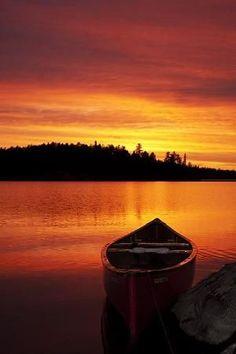 Sunset ~ Hillock Lake, Ontario, Canada by Nelepl Beautiful Sunset, Beautiful World, Beautiful Places, Beautiful Scenery, Belle Image Nature, Landscape Photography, Nature Photography, Amazing Sunsets, Belle Photo