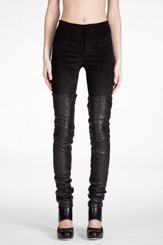 SHOP Bess: Leather Thigh Tights. LOVE.