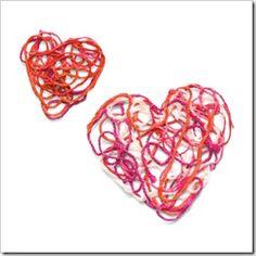 Hardened yarn hearts