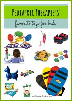 A collection of super cool toys with super awesome child development benefits! Recommended by pediatric occupational and physical therapists from The Inspired Treehouse.