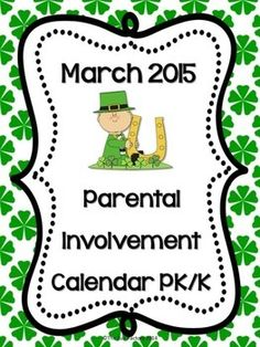 """If you want more meaningful """"homework"""" for your PK or Kindergarten students, this freebie March Calendar is for you. Students and their families will have fun doing activities such as: • Count by 10s to 50 • Talk to your child about what a pet needs to stay healthy • Look outside for different birds. Draw what you see. • Play dominoes with your child and let him identify the numbers on the dominoes  There are two calendars this month, one with a week of Spring Break and one with no break."""