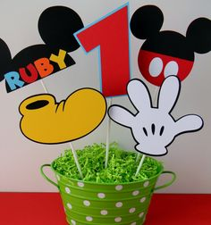 5 Mickey Mouse Clubhouse Birthday Party by sweetheartpartyshop Mickey Minnie Mouse, Cupcake Mickey, Mickey Mouse Theme Party, Fiesta Mickey Mouse, Mickey Mouse Clubhouse Birthday Party, Mickey Mouse Birthday, 2nd Birthday Parties, Birthday Ideas, Miki Mouse