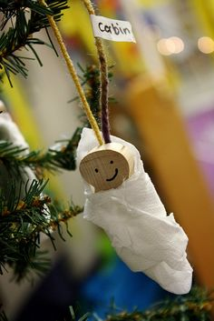 Baby Jesus Christmas Ornaments - craft for W's preschool party