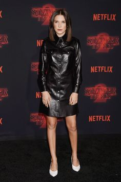 Millie Bobby Brown looked so chic wearing this major fall shoe trend on the Stranger Things 2 red carpet.