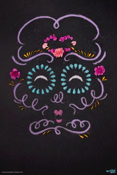 Marmalade Bleue - Lettering and Design that Moves — Stop Motion Tactile Type Sugar Skull