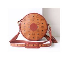 Auth MCM Visetos Cognac Tambourine shoulder cross-body handbag vintage brown purse rare by hfvin on Etsy  #mcm #visetos #cognac #brown #tambourine #handbag #shoulder #hfvin