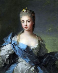 Portrait of a Lady, previously identified as the Duchesse de la Rochefoucauld. 18th century Jean-Marc Nattier