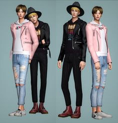 Leather Jackets   By BY2OL    19 swatches  EA mesh edit  do not re-edit and re-upload   cc_ @s-sac @ooobsooo @pralinesims @theslyd @madlensims @yeji-ktoksik, younzoey  Thanks to all cc creators ♥