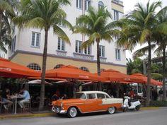 South beach Miami art deco district Ocean Drive Florida Na dúvida, embarque