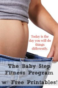 """Baby Step Fitness Program. This is perfect for the person that keeps losing motivation. This isn't a """"diet"""". It's a 6 step behavior modification program that changes the way you see food and fitness. Like Dave Ramsey or FlyLady for fitness."""