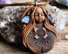 Jasper Medicine Woman Necklace with Labradorite by TRaewynJewelry
