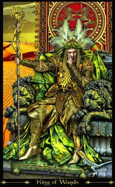 roi de bâtons (2) - Tarot Illuminati par Erik Dunne