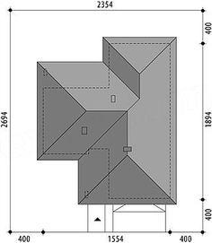 Nela V - Dobre Domy Flak & Abramowicz Village House Design, Bungalow House Design, Stair Plan, Three Bedroom House Plan, House Outside Design, Weekend House, Closet Designs, Small House Plans, Cool House Designs