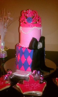 pink and purple bday cake!