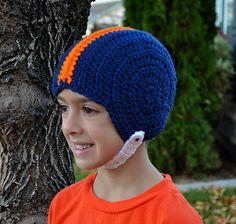 Jaynamacs osu football helmet hat hat crochet buckeyes and helmets football helmet pattern by sweet potato 3 funny hatscrochet dt1010fo