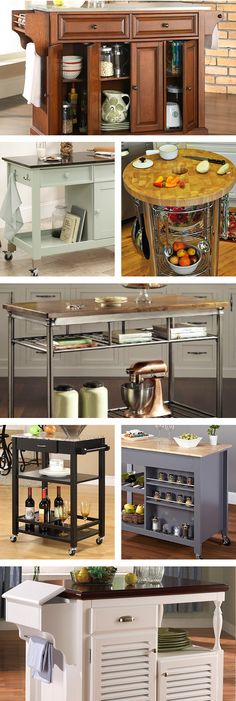 For a stylish all-in-one solution, opt for a rolling kitchen cart or an island equipped with cabinets, drawers, and lots of shelving. Visit Wayfair and sign up today to get access to exclusive deals everyday up to 70% off. Free shipping on all orders over $49.