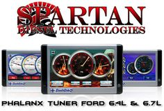 """This folks, is the hottest Ford Powerstroke Diesel tuner on the planet!  The Phalanx by Spartan Diesel Technologies runs on the Drew Tech DashDAQ platform with custom programming provided by Spartan.  The Spartan Phalanx HAMMERS the competition!    The base package includes off-road HP as high as 275 HP for the 6.4L and 165 HP on the 6.7L. The 6.7L has an optional """"War Hammer"""" upgrade to 200 HP with DOC/SCR/DPF and DEF (Urea) Off Race tuning included.  Off-Road HP Tuning up to 350 HP is…"""