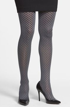 Hue 'Dotty' Polka Dot Control Top Tights (2 for $22) available at #Nordstrom