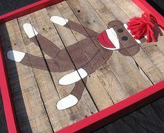 I still want this art for Mason's sock monkey room!