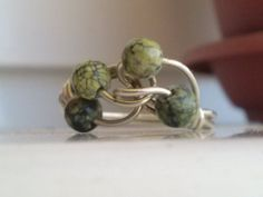 Russian+Serpentine+Gemstones+Ring+size+aprox+6+with+by+magyartist,+$32.00