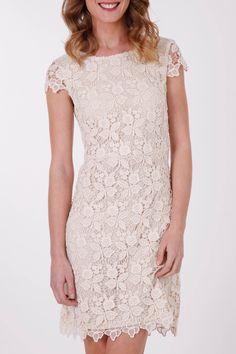 Esprit Collection Lace Cap Slv Dress