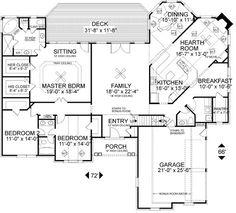 Floorplan The Fincannon House Plan #1234 | House Plans | Pinterest |  Sliding French Doors, Toilet Room And House