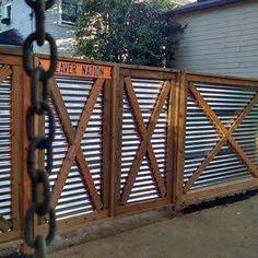 Resultado de imagen para corrugated iron fencing ideas