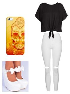 """Untitled #225"" by paige-york0215 ❤ liked on Polyvore featuring beauty, Casetify and Topshop"