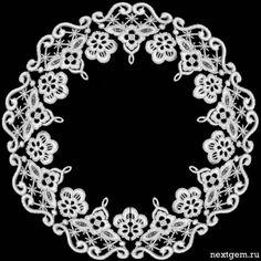 Для росписи - кружевные круглые рамочки. Обсуждение на LiveInternet - Российский Сервис Онлайн-Дневников