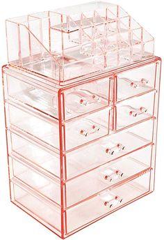 Makeup Storage Drawers, Makeup Storage Organization, Makeup Drawer, Storage Ideas, Makeup Vanities, Diy Storage, Bathroom Organization, Ikea Bedroom, Bedroom Storage