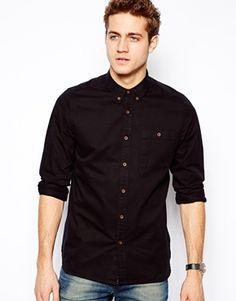 Bild 1 von ASOS – Twill-Hemd mit langen Ärmeln