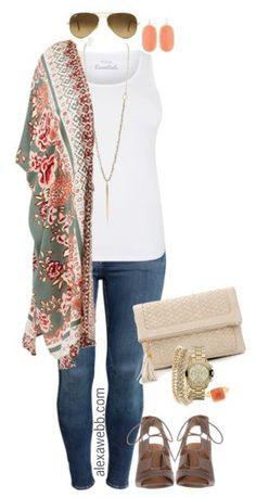 Spring Outfits Ideas 2019 - Plus Size Kimono Outfit - Plus Size Summer Outfit - Plus Size Fashion for Women . Adrette Outfits, Casual Outfits, Fashion Outfits, Women's Casual, Casual Summer Outfits For Women, Casual White Jeans Outfit Summer, Semi Casual Outfit Women, Summer Clothes For Women, Cardigan Outfit Summer