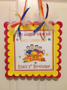 THE WIGGLES Birthday Door SIGN by YourPartyStore on Etsy, $12.50