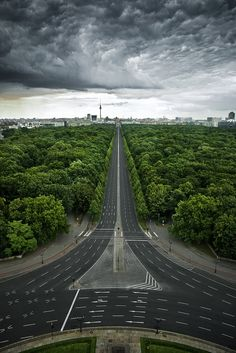 The Tiergarten in Berlin, shot from the top of the Siegessäule.