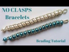 Beading tutorial. Beaded bracelet without clasps. Very easy pattern -Handmade jewelry. - YouTube