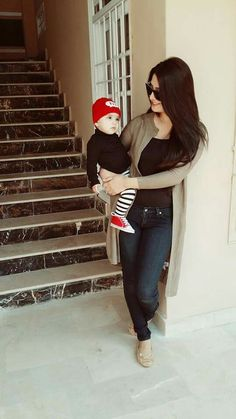 Aiza with baby hoorain