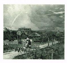 Salons of 1901's THE WAGON, EQUIHEN - J.C. CAZIN - Photograveure - 1901